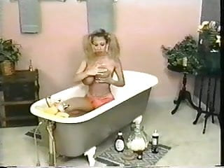 Asian gunpowder sauce - Sexy dirty blond whore takes bath in chocolate sauce and whipped cream