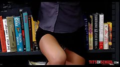 Big Tits in the Library