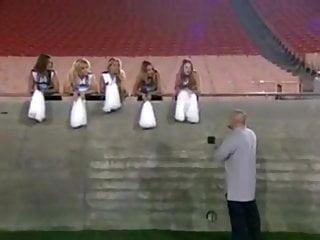 Football cheerleader nude Cheerleader gets gangbnaged by the entire football team