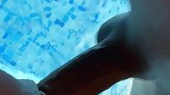 Black cock enter in wet pussy underwater