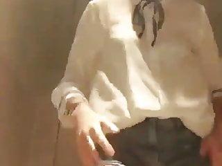 Korean girls lesbian Korean girls strips and fingers in changing room