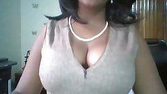 Ebony woman Macy with big tits on workplace