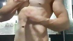 Fitt guy after shower