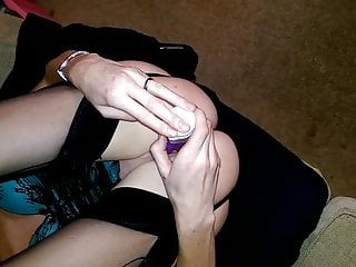 Using rabbit vibrators British wife orgasm and fucking with rabbit vibrator