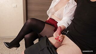 Pull out my cock in front of a stranger in waiting room