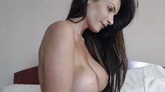 Hot Brunette Topless On Cam