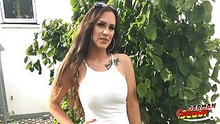 GERMAN SCOUT - Saggy Tits Teen Sarah Talk to Anal Fuck