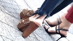 Sexy arabian with hot ass in high heels mules (pt1)