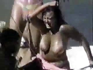 Bullet into her naked breast - Lets get her naked