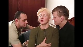 mature blonde gets cum