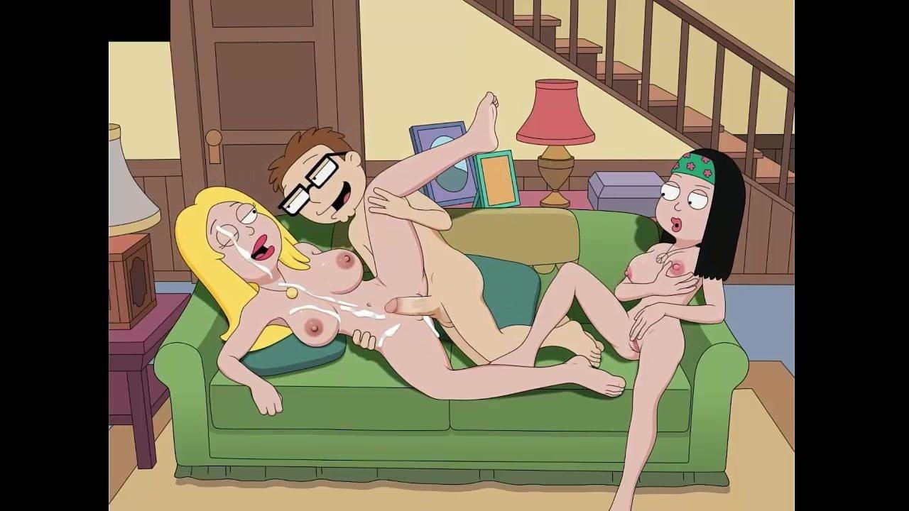 Cartoon sex american dad steve francine free porn images