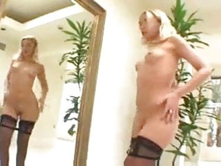 Dildo anal masturbation - Olivia anal masturbation and analsex in stockings
