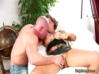 Hard lump breast Huge breasts babe gets blowjob and hard cock fuck