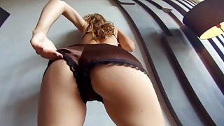 Amateur Russian babe teasing in exclusive POV VR video
