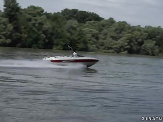 Small pleasure craft boats Public anal on the boat - cassie right