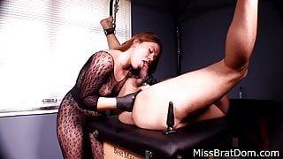 Prostate Massage Bound Slave by Femdom Miss Perversions