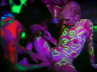 Body paint sex shave Assfuck plus male fist with luminescent body paint