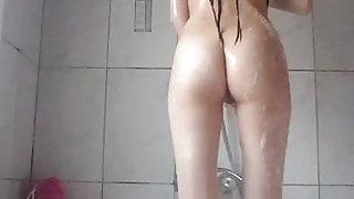 Turkish girls play at shower