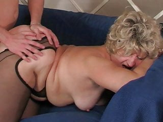Busty Russian Mature Pleased By Young Boy