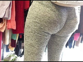 Sweat virgin Amazing latin ass in see through sweats vpl