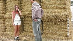 The young farmer punishes a lost young girl