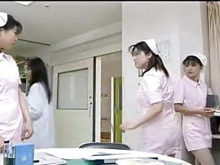 Big tit japanese nurse rubs cock - Japanese nurse-good whore