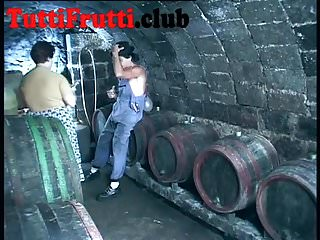 Hairy fat galleries - Big tits hairy fat mom in the wine cellar