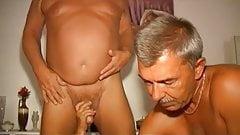 OmaPasS Hairy Grandma Threesome Sex with Sextoys