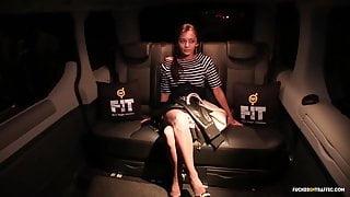FuckedInTraffic - Ukrainian teen fucks on backseat of a car