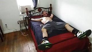 Twink Jock Jay Nippz in Bondage
