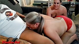 Cock Crazy Horny Wife Joins Couple For BBC Fuck