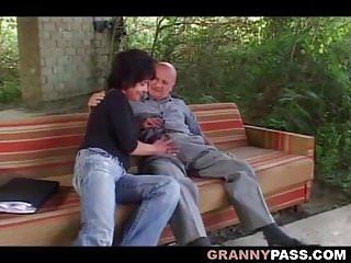 German grandmas xxx Grandma outdoor anal fucking