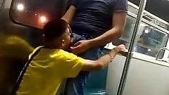 Watch busty asian blowjob in subway