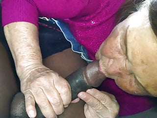 Asian pluggable hybrid cars Old korean asian woman sucking bbc dry in car.