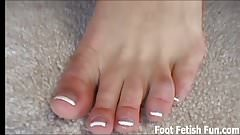 Lick my feet before I give you a footjob