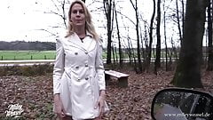 Hot German blonde gets fucked in public !!