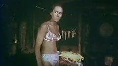 1970 movie getting dressed in floral satin panties