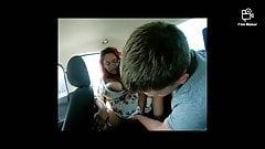 Ebony slut I fucked in the back of my car