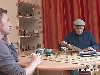 French redhead French redhead babe anal fucked in threeway with papy