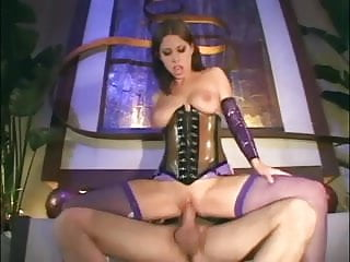Pepwatch brunette fucking Brunette fucking in latex lingerie and a corset