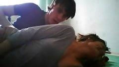 Amateur College Teens Dorm Room Fun