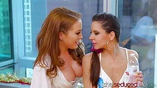 SHESEDUCEDME – MILF Carmen Valentina Seduces Cute Milana Ricci