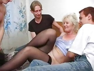 Spank grandmas ass Sexy grandma lena and three fuckers