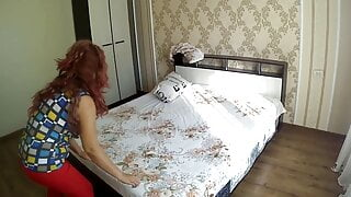 mom made the bed and made a decent stepson. Big ass anal