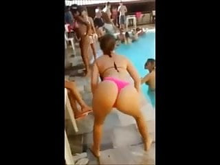 Voyeur pics and beach and pools Summer in brazil - blonde bitch dancing funk in the pool.