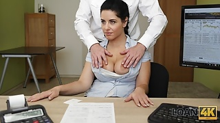 LOAN4K. Only fucking can help chick get a loan for massage