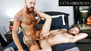 Huge Inked Hunk Gets His Massive Dick Devoured