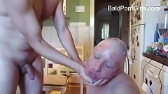 Poor bald woman's hair was shaved of then she was humiliated