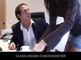 Man fucking maid Handsome boss fucking maid and secretary