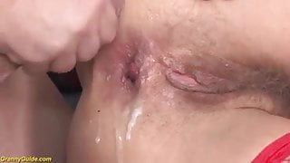 Old mom's first time anal sex